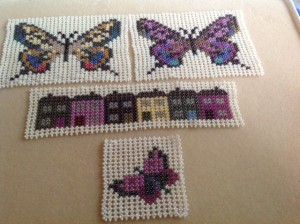 Hubble Stitch motifs made by Dianne Clark