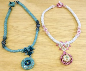 Jean Place and Pat Roome have both made their own colour versions of the Morgan Le Fay necklace.