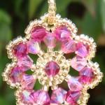 crystal rosette pendant