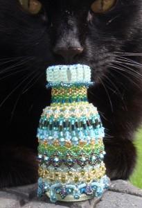 Beadschool Embellished beaded bottle