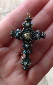 Byzantine Cross in size 15 Czech Charlottes