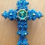 Byzantine Cross by Melanie de Miguel at Beadschool