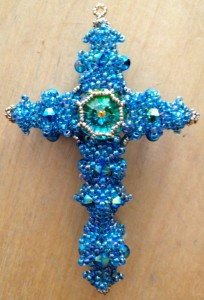 Byzantine Cross by Melanie de Miguel at Beadschool