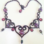St Olave Necklace - Vitrail Light and Purple Iris