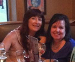 Me with Vicki at Applebees for a well-earned break!