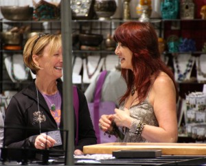 Sharing a beady moment whilst treasure hunting at the Bead & Button Show