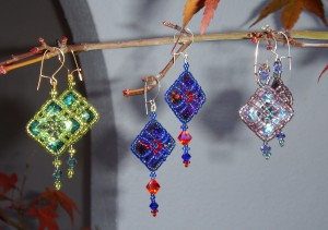 Crystal Latticework Earrings