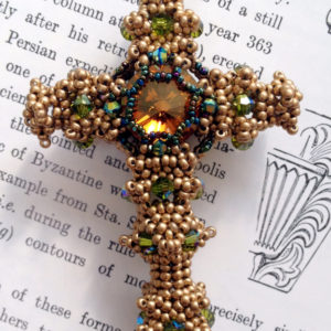 Byzantine Cross - Silken Gold & Crystal Copper