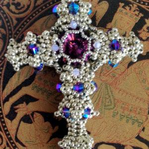 Byzantine Cross Silver & Amethyst