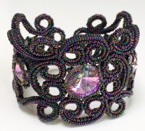 Beatrice Cuff with Swarovski Rivolis