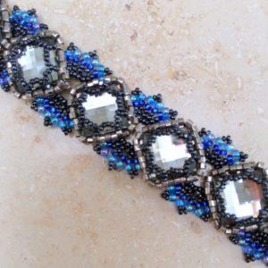 Lorenzo de Medici Bracelet in Black Diamond & Aqua