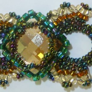 Lorenzo de Medici Bracelet in Golden Shadow with Emerald