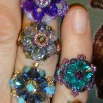 Crystal Finger Candy Rings