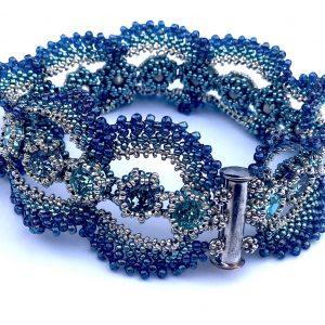 Ducks and Drakes bracelet - blue version