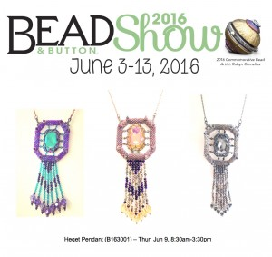 Heqet Pendant class at the Bead & Button Show 2016