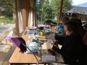 My Hubble stitch class in Les Carroz, the French Alps.