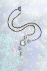 Ice Princess beaded crystal pendant