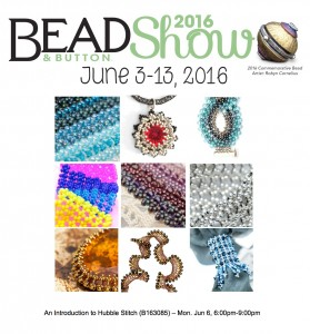 Introduction to Hubble Stitch class at the Bead & Button Show 2016