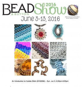 Intro to Hubble Stitch class at the Bead & Button Show 2016