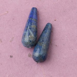 Lapis Lazuli Stone Drop beads 30x8mm