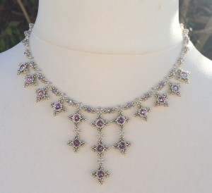 Marie Antoinette Necklace in silver.