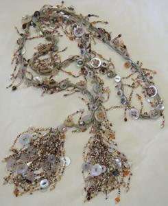 Pearl Button Lariat