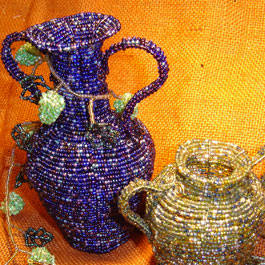 Wirework Urns, Vases and Vessels