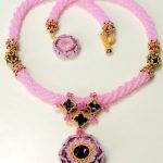 Morgan Le Fay - Antique Pink & Amethyst with 24K gold Charlottes