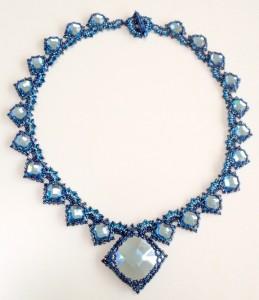 Aqua version of Isabella necklace by Melanie de Miguel