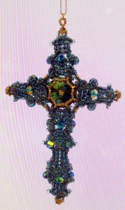 Byzantine Cross - Turquoise and Gold