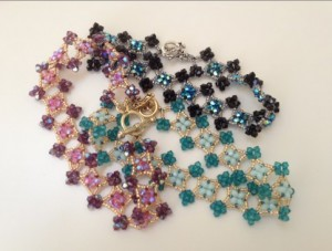 Emilie bracelet - Swarovski crystal, Miyuki seed beads and Tierracast toggle clasp