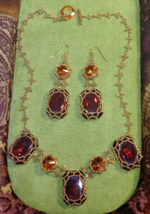 Leonora Necklace and Earrings