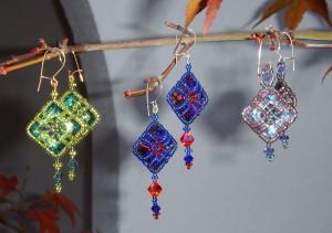 Crystal Latticework Earrings