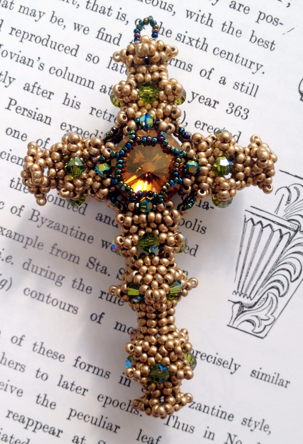 Byzantine Cross Kit (Silken Gold/Crystal Copper)
