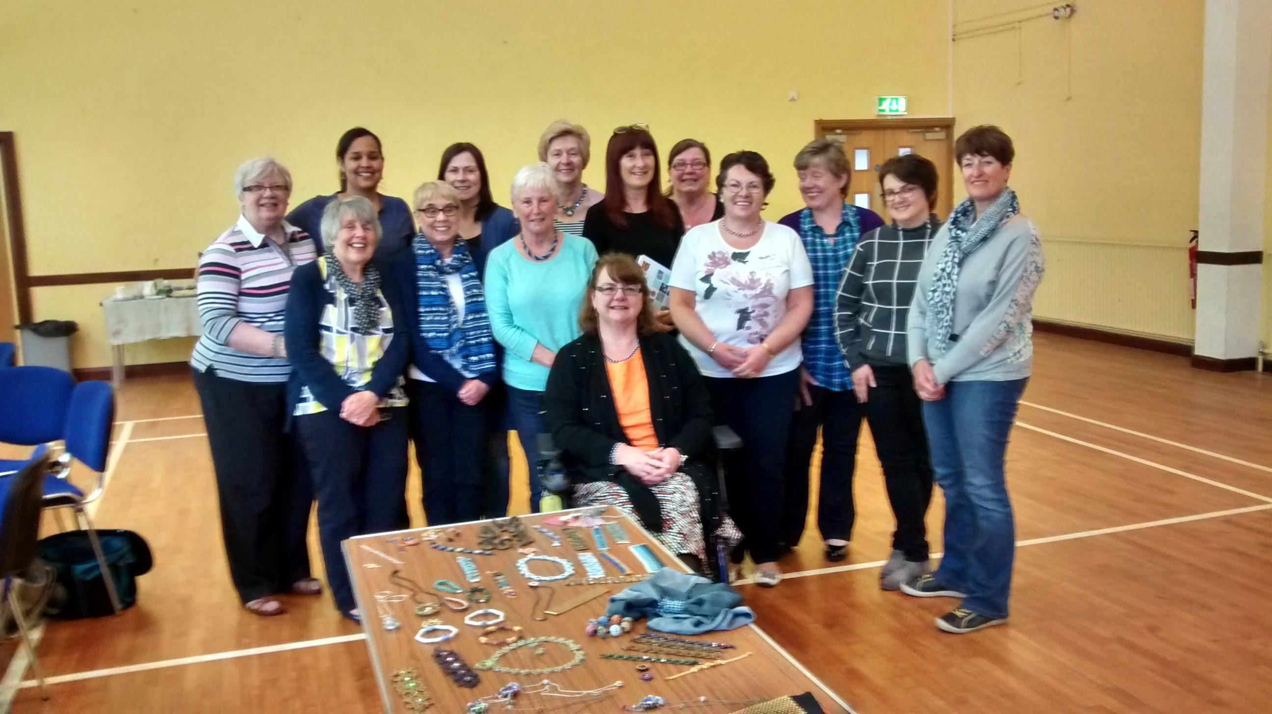 Heqet Pendant workshop with Northern Ireland Beaders Guild