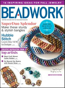 Beadwork Magazine October/November 2015 - Hubble Stitch covered in Stitch Pro