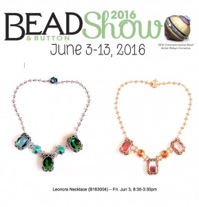 Leonora necklace class at the Bead & Button Show 2016